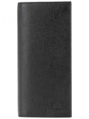 Churchs длинный кошелек с откидным клапаном Church's. Цвет: черный