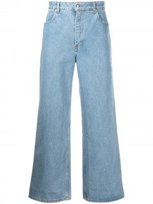 Широкие джинсы с завышенной талией Eckhaus Latta. Цвет: синий