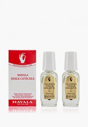 Масло для ногтей и кутикулы Mavala Cuticle Oil, 2х10ml. Цвет: прозрачный