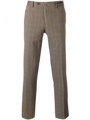 Классические брюки с полосками по бокам Pt01. Цвет: коричневый