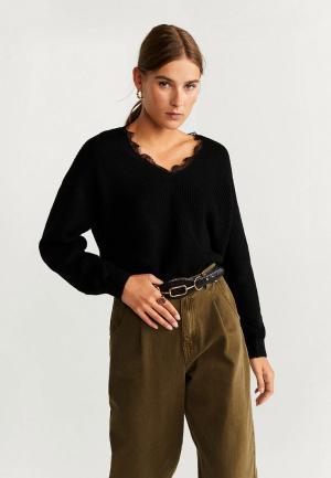 Пуловер Mango - LOVELACE. Цвет: черный