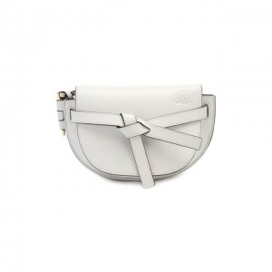 Поясная сумка Gate mini Loewe. Цвет: белый