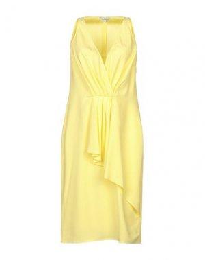 Платье до колена ANGEL SCHLESSER. Цвет: желтый