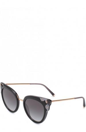 Солнцезащитные очки Dolce & Gabbana. Цвет: черный