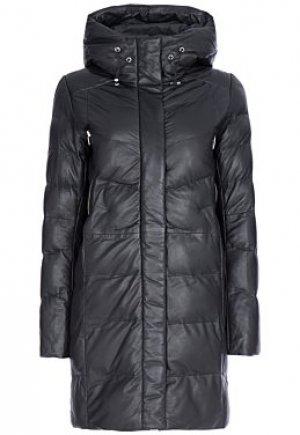 Утепленная кожаная куртка La Reine Blanche