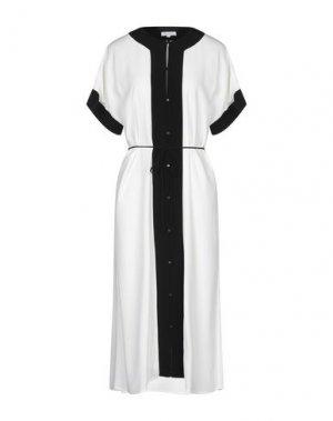 Платье длиной 3/4 EQUIPMENT. Цвет: белый