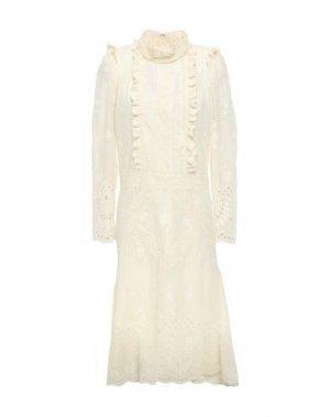 Платье до колена ANNA SUI. Цвет: слоновая кость