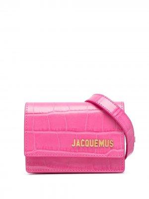 Поясная сумка Riviera с тиснением Jacquemus. Цвет: розовый