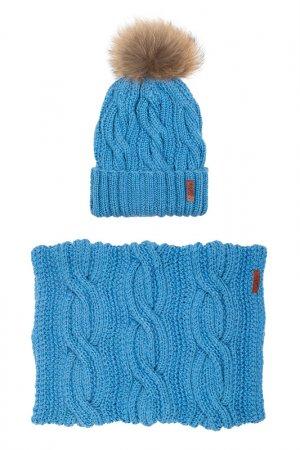 Комплект: шапка, снуд Sava Mari. Цвет: светло-синий