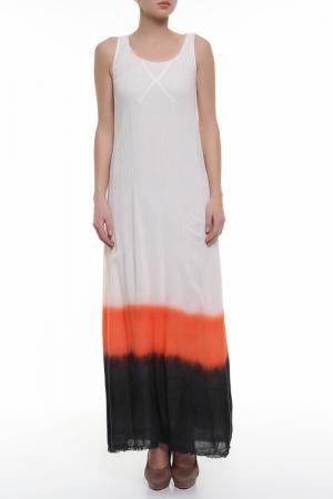 Платье джерси Aiko. Цвет: бежевый