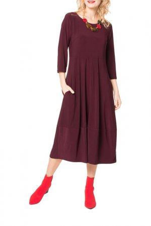 Платье Kata Binska. Цвет: темно-бордовый