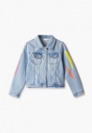 Куртка джинсовая Byblos. Цвет: голубой