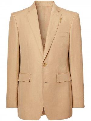 Однобортный пиджак Burberry. Цвет: коричневый