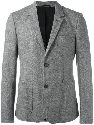 Однобортный пиджак Carven. Цвет: серый
