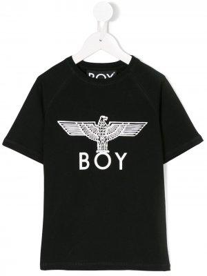 Футболка Eagle Boy London Kids. Цвет: черный