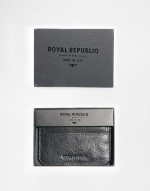 Кожаная визитница Royal Republiq Thunder. Цвет: черный
