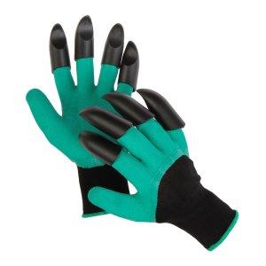 Перчатки нейлоновые, латексное покрытие, с когтями, Greengo