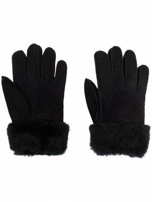 Кожаные перчатки Parajumpers. Цвет: черный