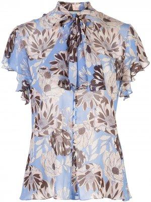 Блузка Dessie с цветочным принтом Alexis. Цвет: синий