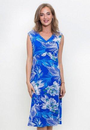 Сорочка ночная Catherine's. Цвет: синий