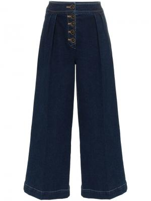 Широкие джинсы с высокой талией Rejina Pyo