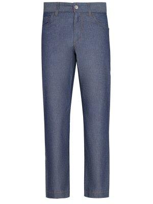 Хлопковые джинсы прямого кроя BILLIONAIRE