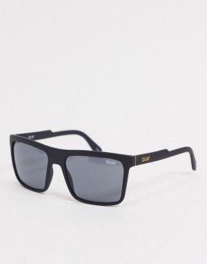 Мужские солнцезащитные очки в черной оправе стиле ретро Quay Legacy-Черный Australia