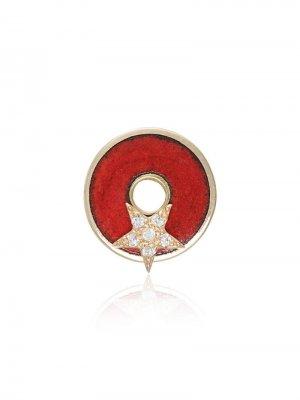 Ожерелье с кулоном Foundrae. Цвет: красный