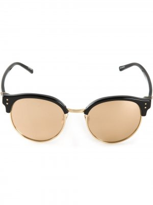 Солнцезащитные очки Panamá Linda Farrow. Цвет: золотистый