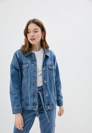 Куртка джинсовая Befree. Цвет: синий