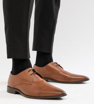 Светло-коричневые кожаные дерби для широкой стопы -Светло-коричневый Frank Wright