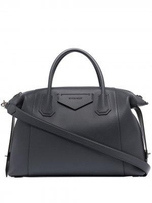 Большая сумка-тоут Antigona Soft Givenchy. Цвет: серый