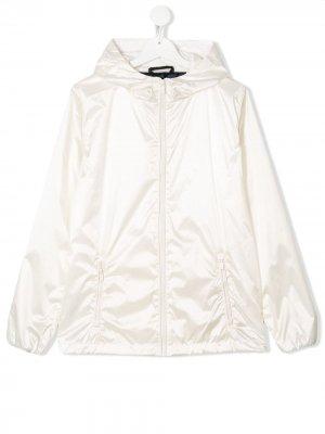 Куртка с капюшоном Ciesse Piumini Junior. Цвет: белый