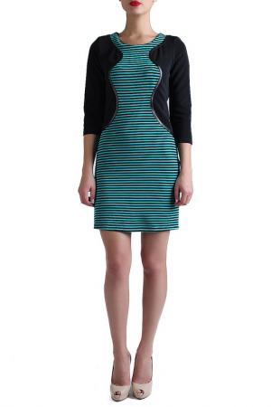Платье EVA Milano. Цвет: голубой