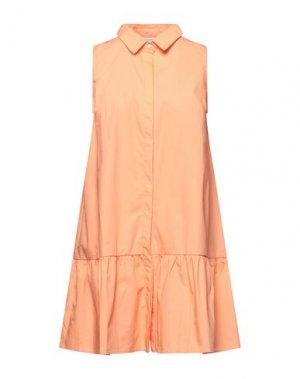 Короткое платье COMPAÑIA FANTASTICA. Цвет: абрикосовый