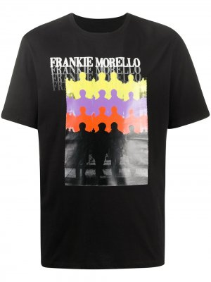 Футболка с круглым вырезом и принтом Frankie Morello. Цвет: черный