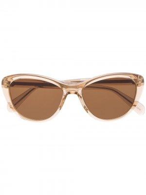 Солнцезащитные очки Sheitle с затемненными линзами Moscot. Цвет: нейтральные цвета
