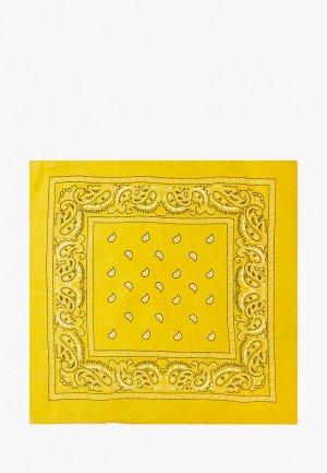 Бандана Nothing but Love 50х50 см. Цвет: желтый