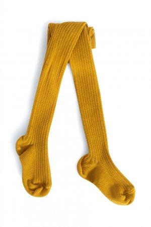 Желтые хлопковые колготки Bonpoint. Цвет: желтый