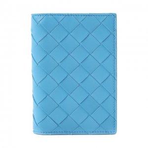 Кожаная обложка для паспорта Bottega Veneta. Цвет: синий