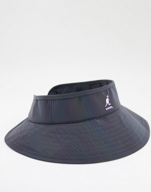 Переливающаяся кепка-козырек черного цвета -Многоцветный Kangol
