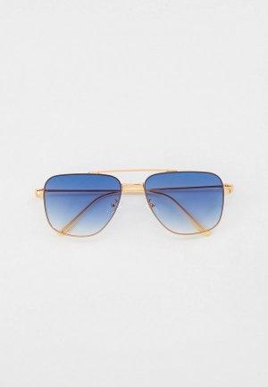 Очки солнцезащитные Marco Bonne`. Цвет: золотой