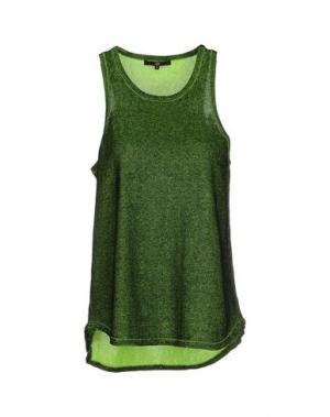 Майка TIBI. Цвет: зеленый