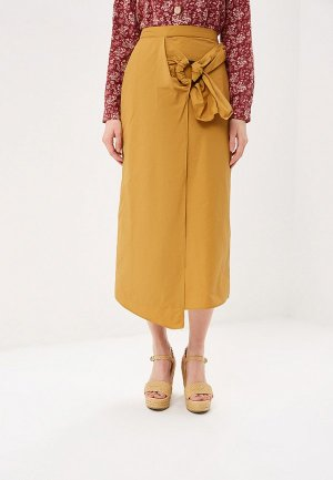 Юбка Mango - CUSCUS-A. Цвет: желтый