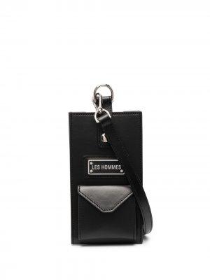 Мини-сумка с логотипом Les Hommes. Цвет: черный