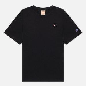 Женская футболка C Logo Crew Neck Champion Reverse Weave. Цвет: чёрный