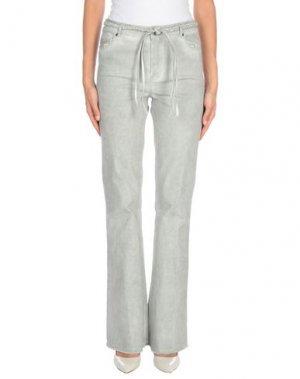 Джинсовые брюки JEFF. Цвет: светло-зеленый