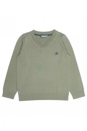 Пуловер зеленый шерстяной Bonpoint. Цвет: зеленый