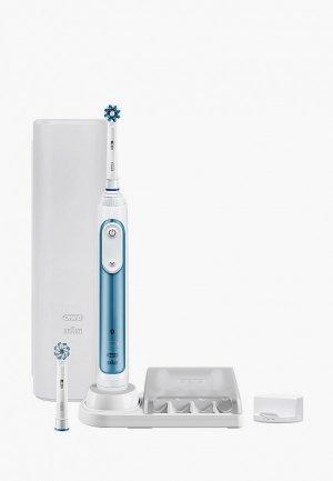 Электрическая зубная щетка Oral B Smart 6 6000N D700.525.5PC. Цвет: голубой