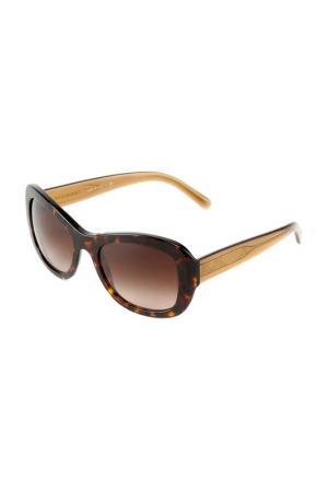 Очки солнцезащитные Burberry. Цвет: dark havana